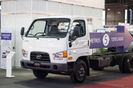 Hyundai HD78 en Expo Transporte 2014