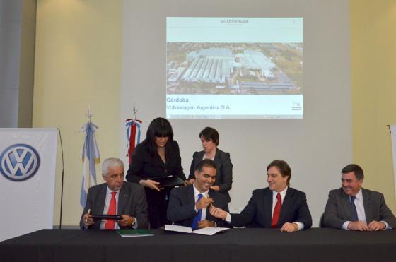 Volkswagen firmó un acuerdo con el Banco de Córdoba