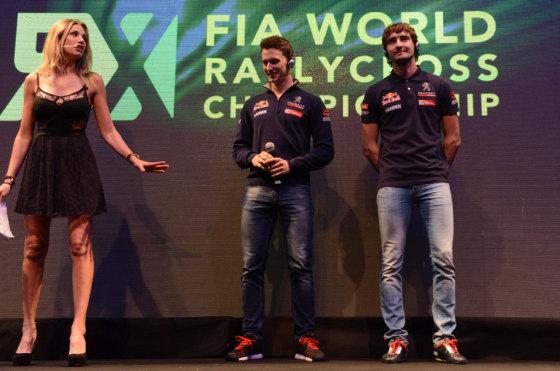 El equipo Peugeot Hansen de RallyCross