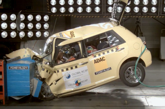Lifan 320 ensayado por el Latin NCAP