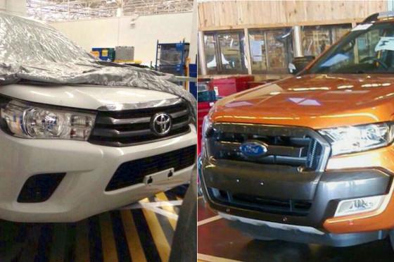 Primeras imágenes de las nuevas Toyota Hilux y Ford Ranger