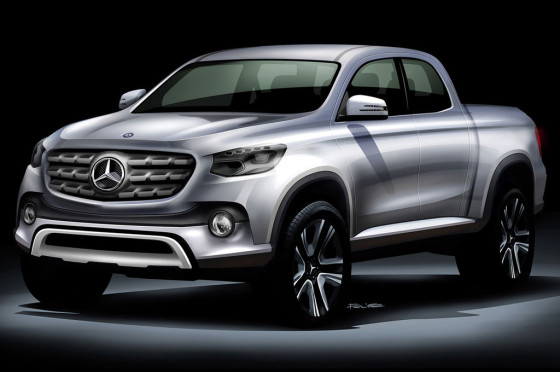 Boceto de una posible pick-up Mercedes-Benz