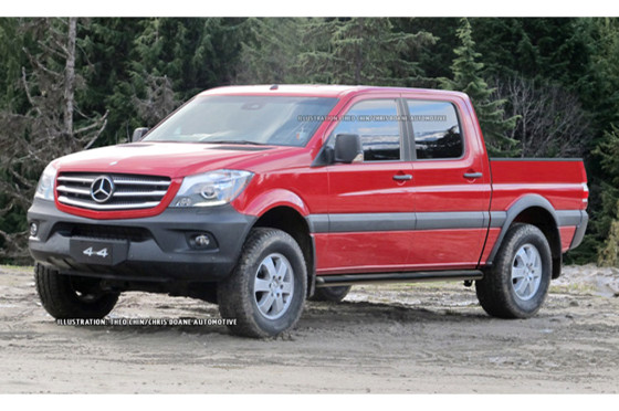 Proyección de la pick-up Mercedes hecha por Chris Doane