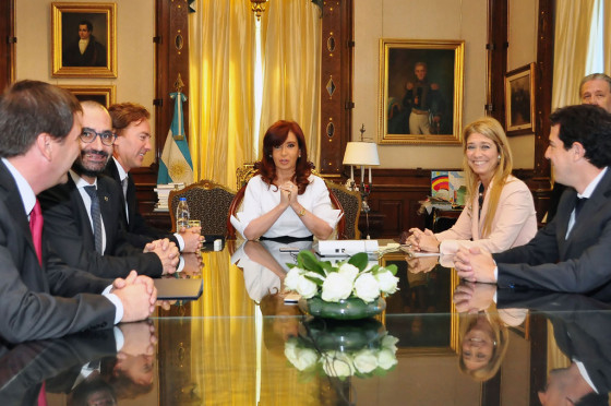 José Luis Valls junto a CFK