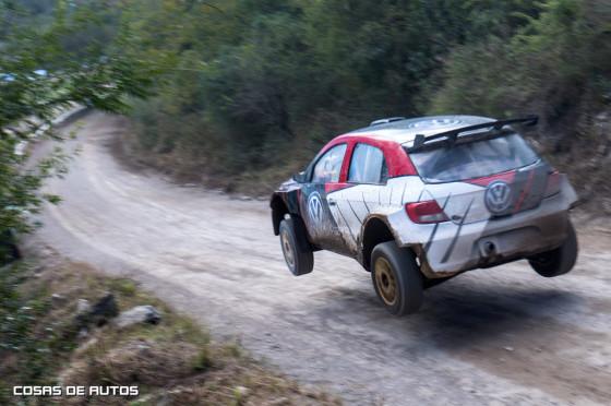 El VW Gol de MaxiRally llevado por Pozzo.