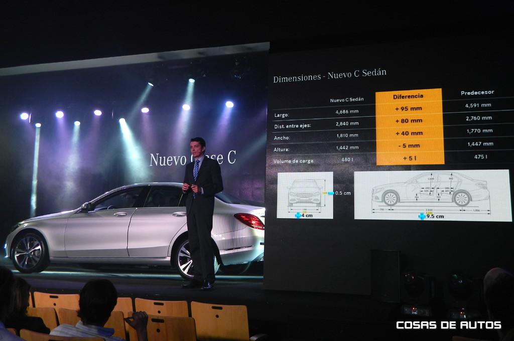 Matthias Laznik, director de ventas y marketing de Automóviles en Mercedes-Benz Argentina, presentó el Clase C.