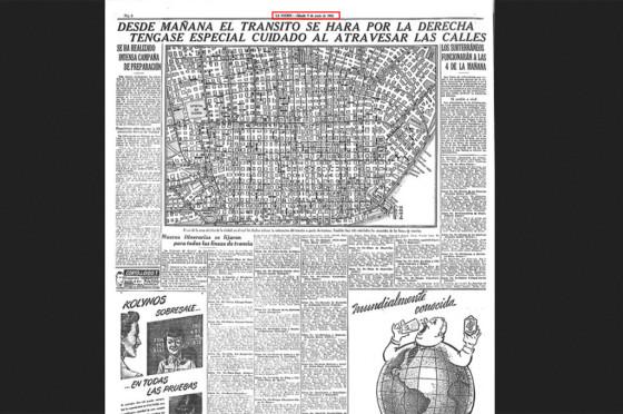 """Diario La Nación del 10/6/1945 donde se anuncia el """"cambio de mano""""."""
