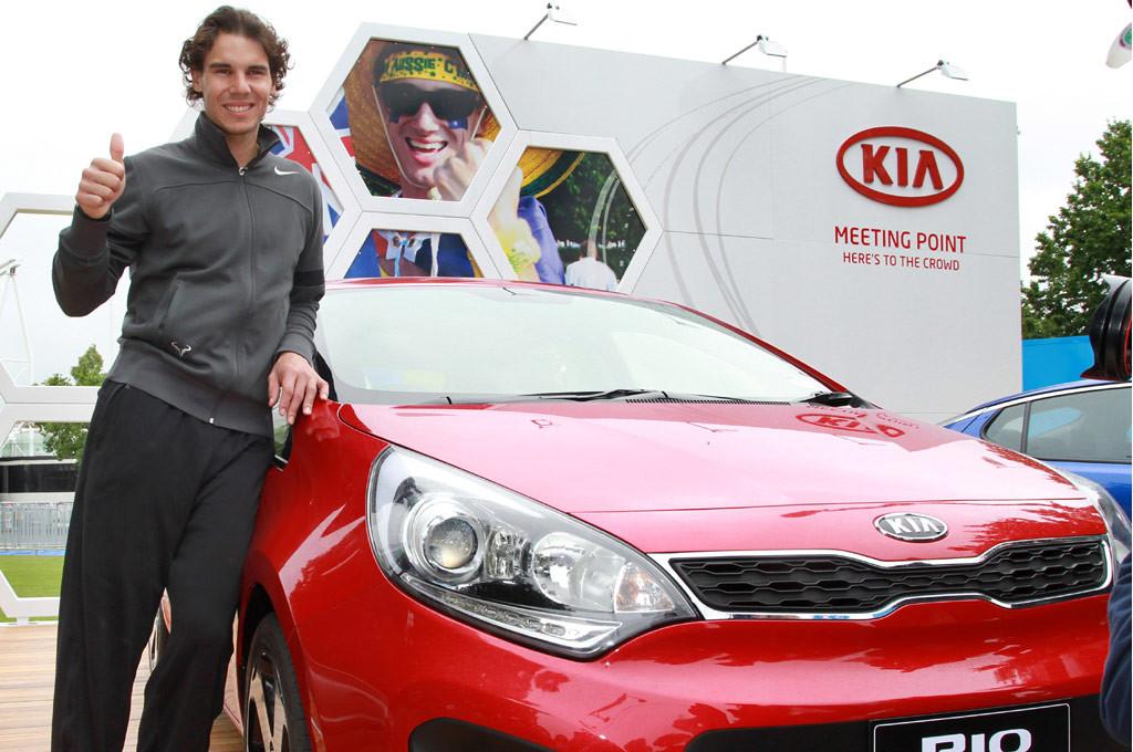 Nadal es embajador mundial de Kia desde hace varios años.