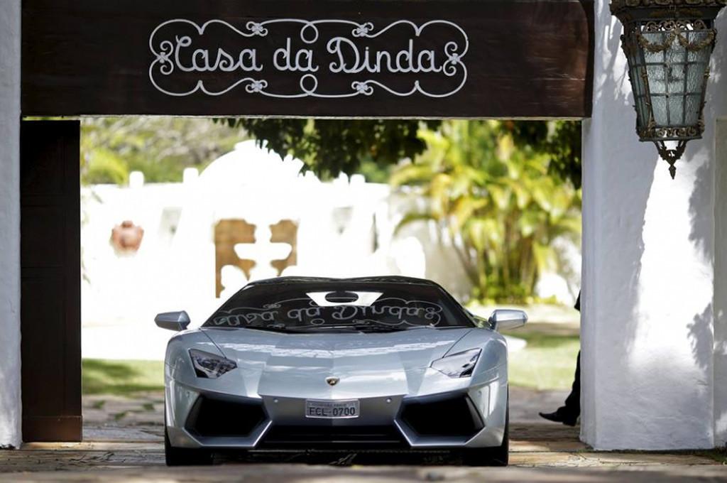 Lamborghini Aventador hallada en la finca de Collor de Melo.