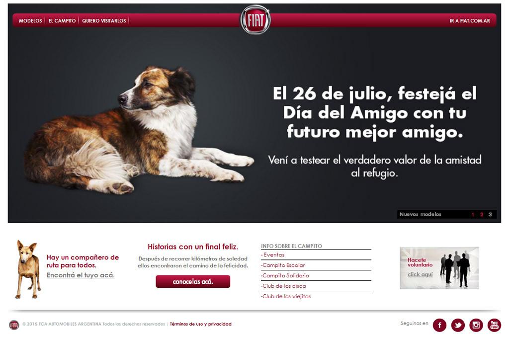 Día del Amigo: Fiat promueve la adopción de perros desde su sitio web