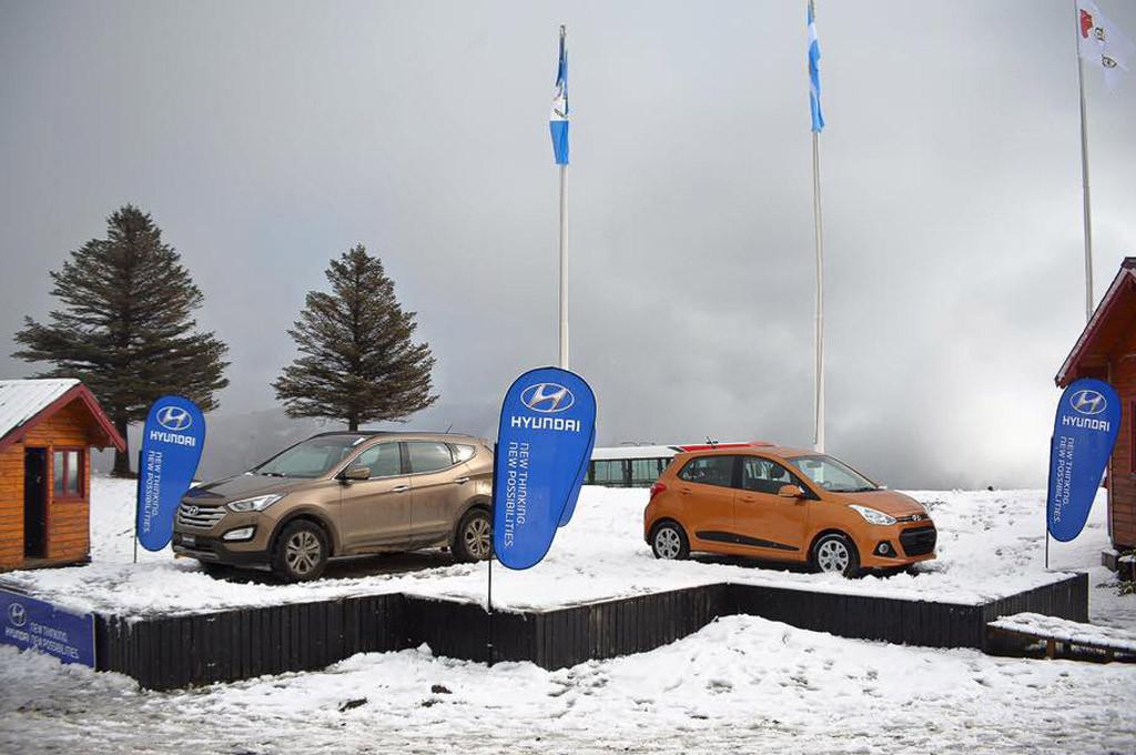 Hyundai dice presente en el Cerro Chapelco con el Grand i10