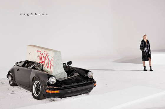 Porsche 911 destrozado por rag & bone