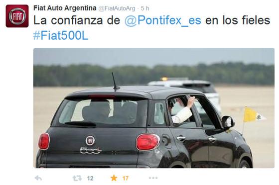 Francisco pisó EE.UU. y le dio una alegría a Fiat