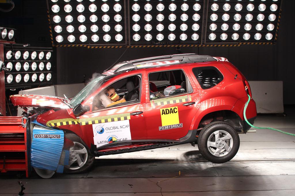 Renault Duster en los test de Latin NCAP