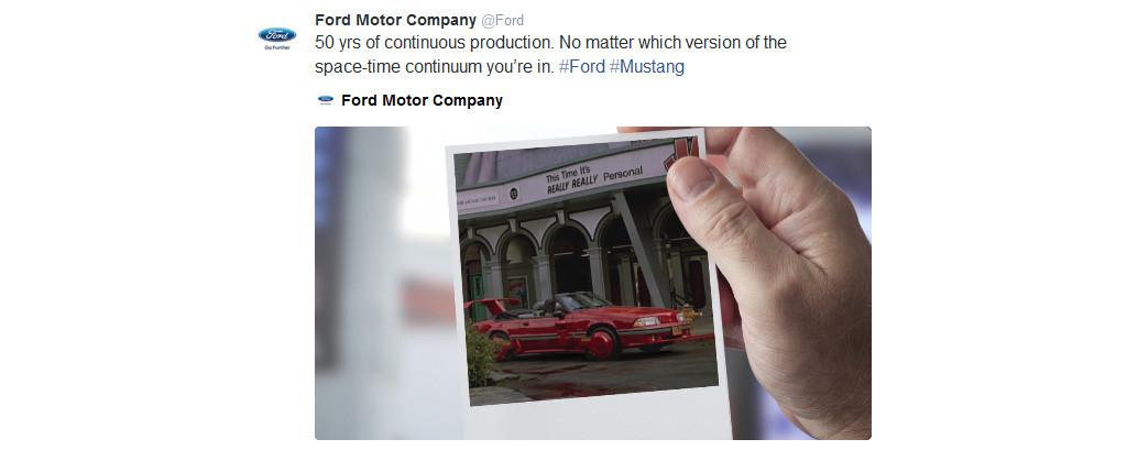 Tweet de Ford en el BTTF
