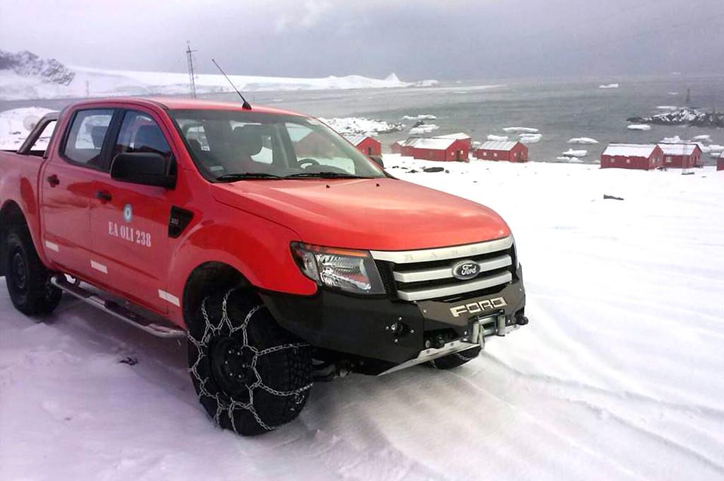 Una Ford Ranger fue destinada a la Antártida