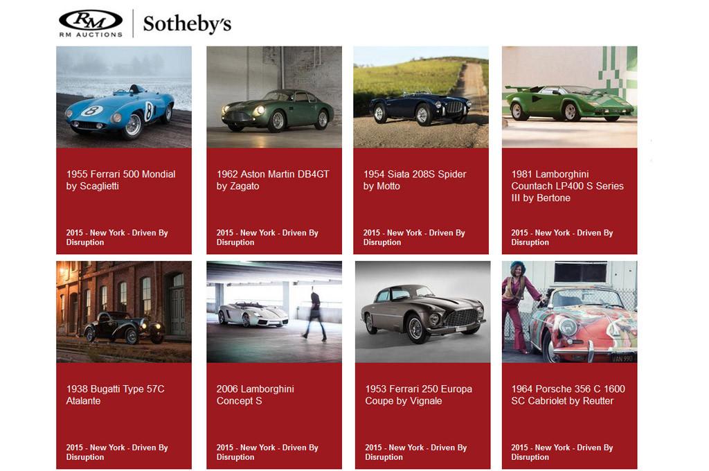 Lote de autos de Sotheby' s