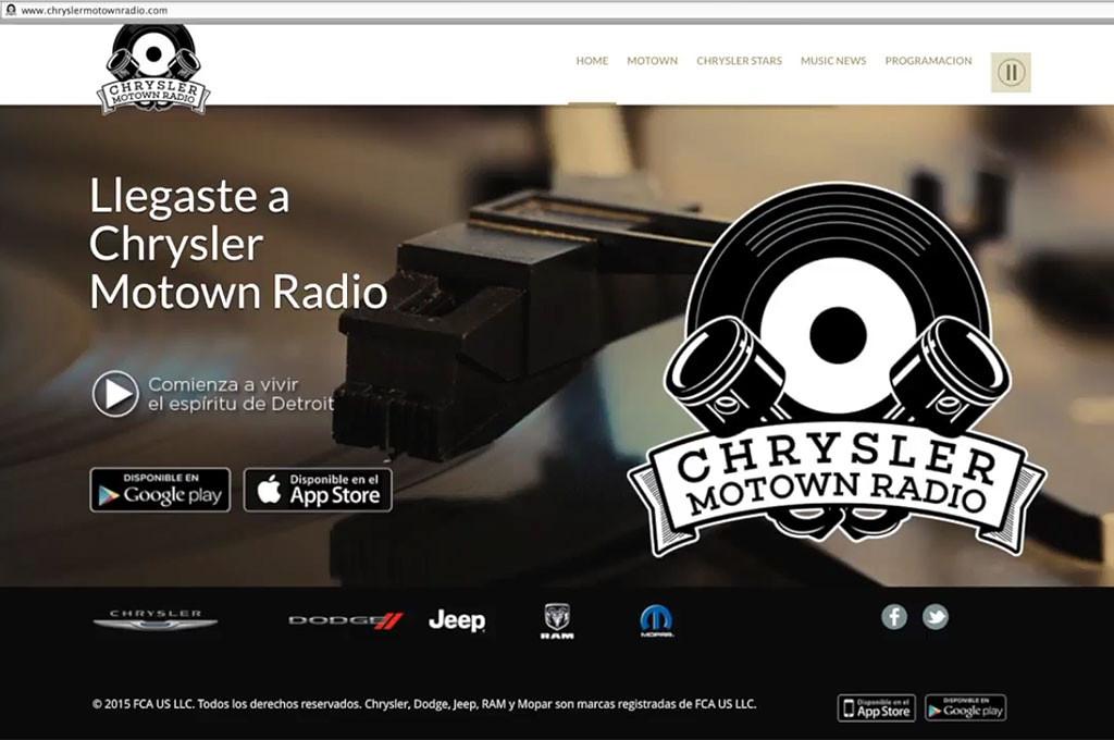 Chrysler puso online Motown Radio