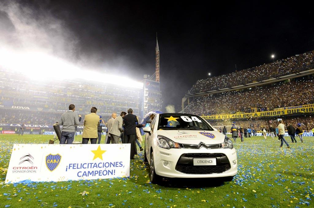 Boca se consagró campeón argentino y se llevó un Citroen de premio