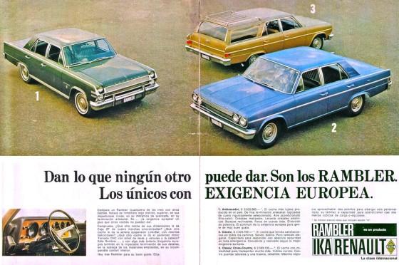 Publicidad de la época de Renault-IKA.