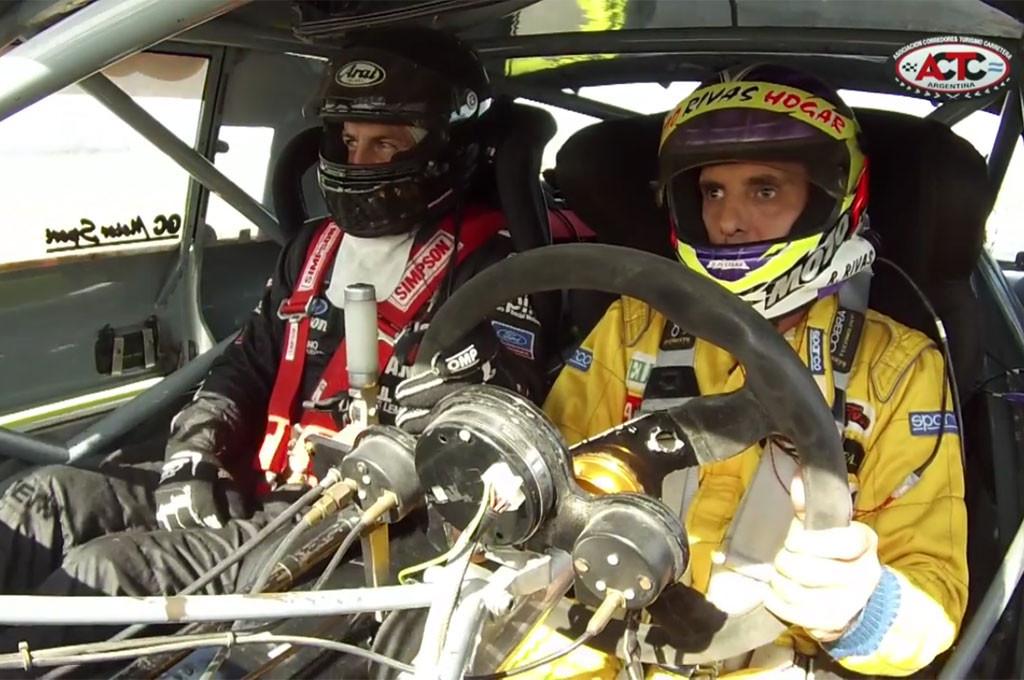Roberto Rivas se dio el gusto de volver a pilotear un TC