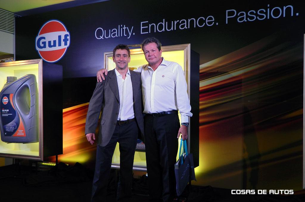 Silva junto a Rutten, CEO de Gulf Oil, quien viajó especialmente a Buenos Aires para el evento.