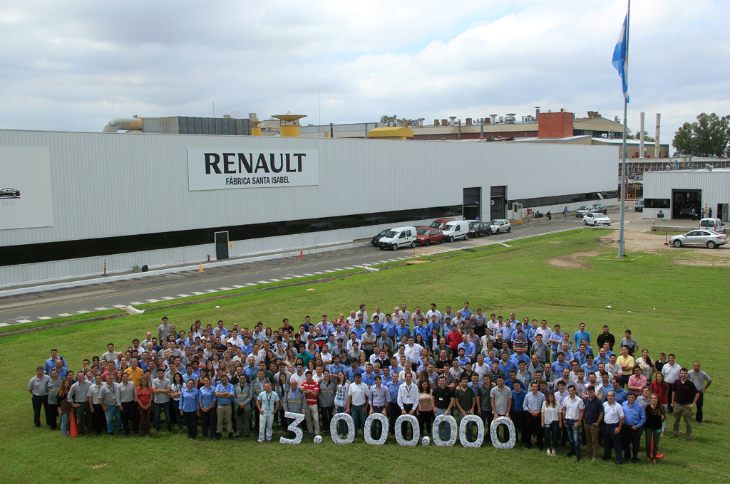 Renault Argentina 3 Millones de unidades en Santa Isabel
