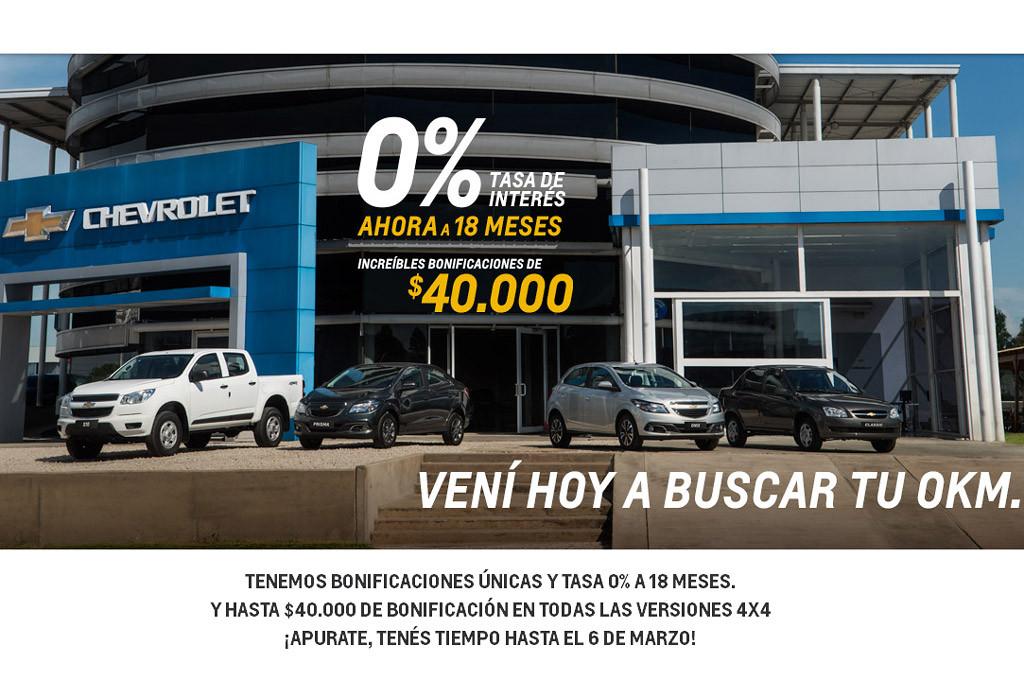 Chevrolet reabrió sus concesionarios con fuertes descuentos