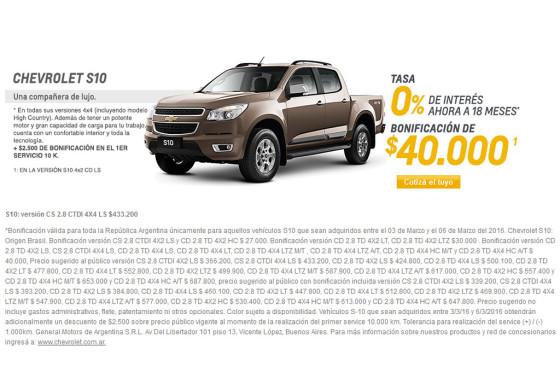 Chevrolet reabrió sus concesionarios con descuentos