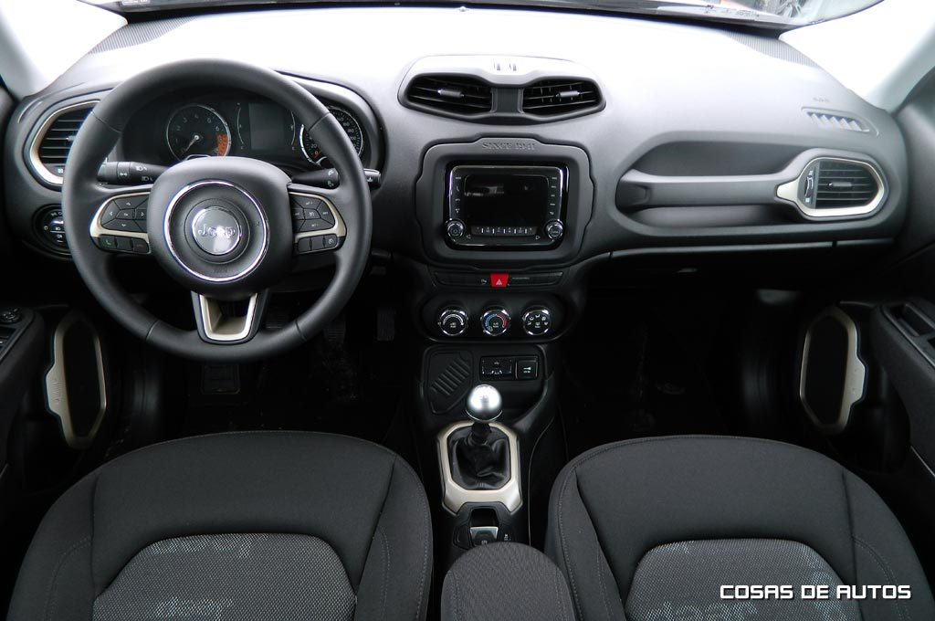 El interior del Jeep Renegade
