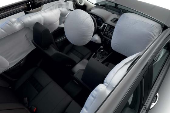 Airbags en la Nueva Ranger