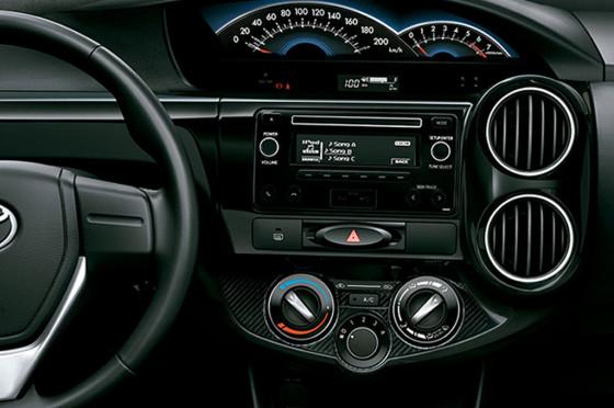 Interior del Toyota Etios 2015
