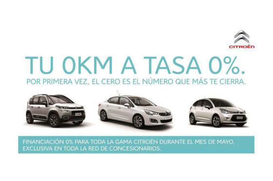 Argentina: Citroen lanza financiación con tasa 0% a 12 meses
