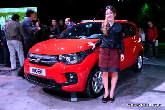 Carolina Méndez Acosta y el Fiat Mobi