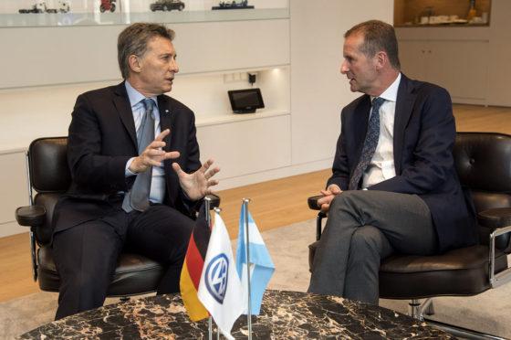 Volkswagen le anunció a Macri inversiones en Argentina