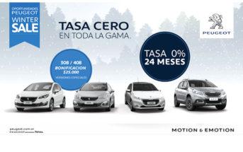 #WinterSale: Peugeot Argentina ofrece bonificación de $25 mil y tasa 0% a 24 meses