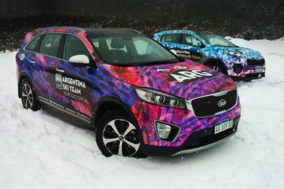 Kia es la automotriz oficial del equipo argentino de Ski y Snowboard