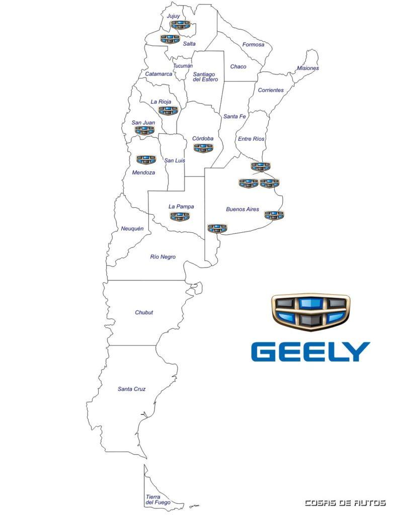 Red de concesionarios Geely Argentina