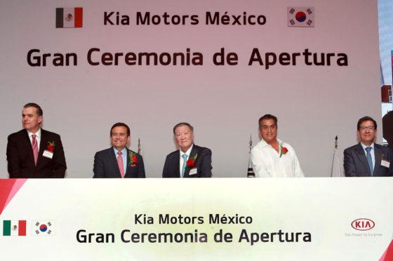 Inauguración de la Planta de KIA en Nuevo León, México