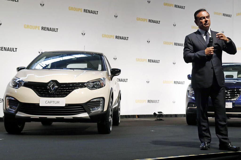 Renault Captur y Carlos Ghosn