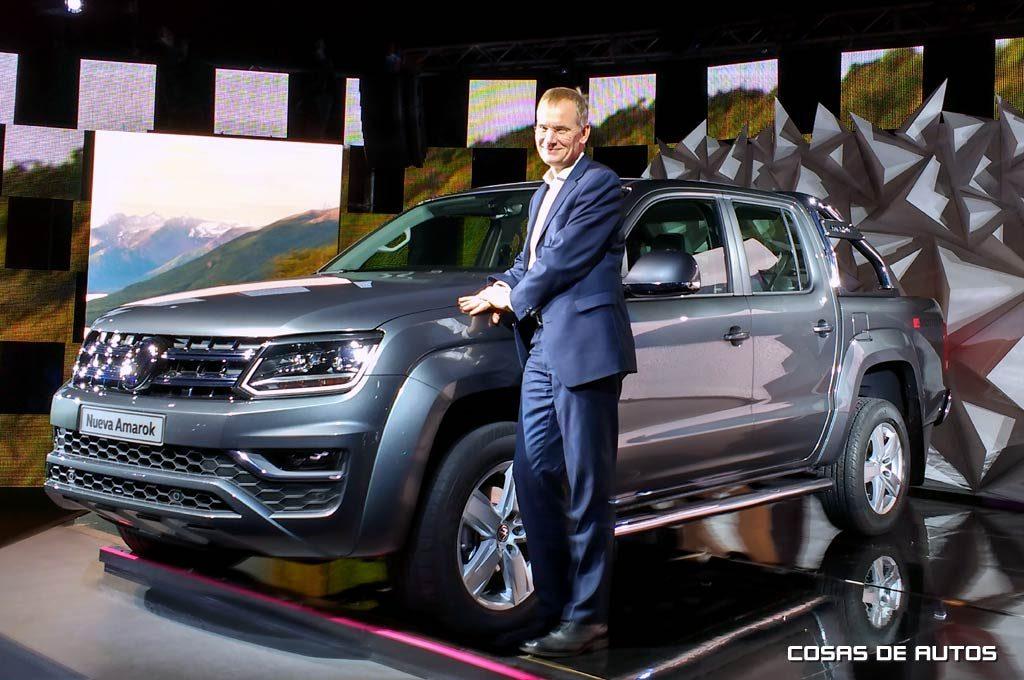 Eckhard Scholz, #1 de Vehículos Comerciales de VW, viajó especialmente para este evento.
