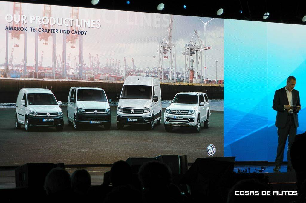 Lineup actual de Vehículos Comerciales de VW.