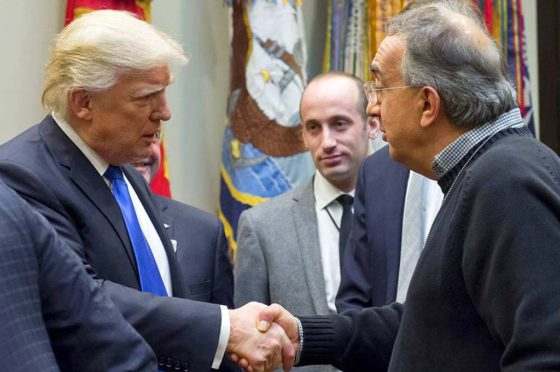 Trump saluda a Marchionne