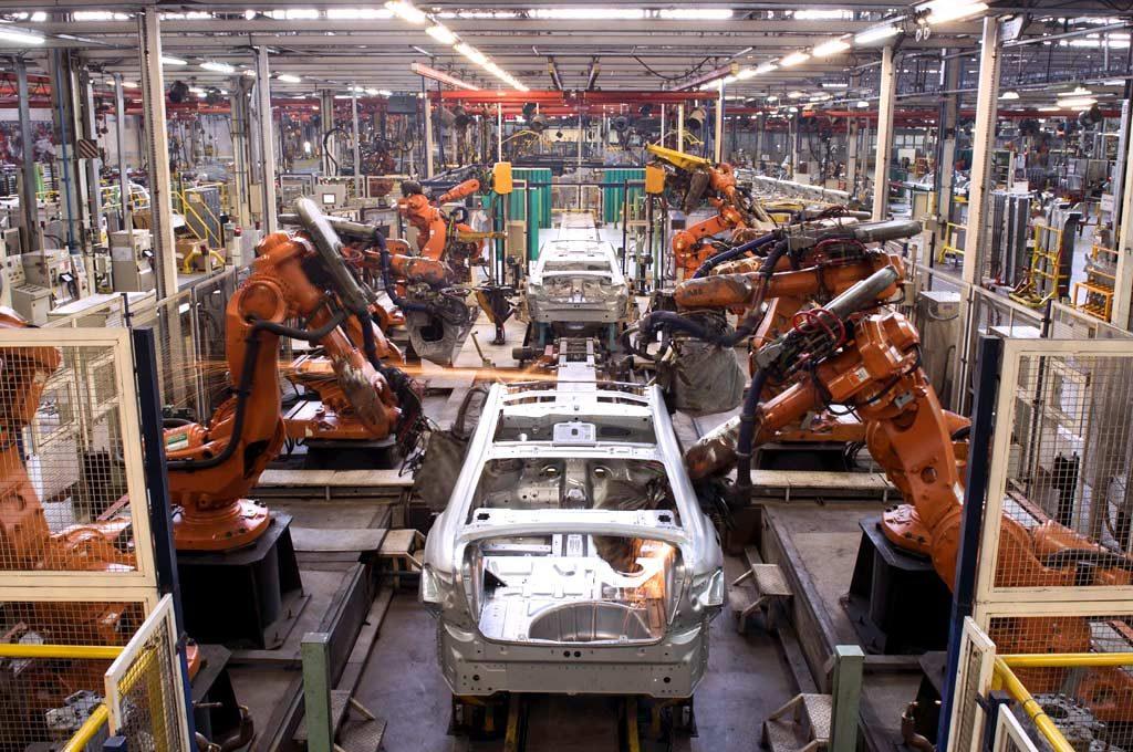 Robots en la planta de PSA