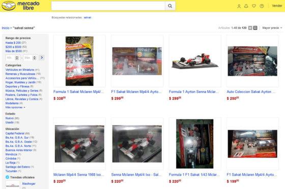 Colección Salvat de Fórmula 1 en MercadoLibre