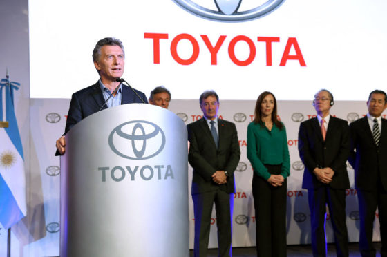 Macri en Toyota