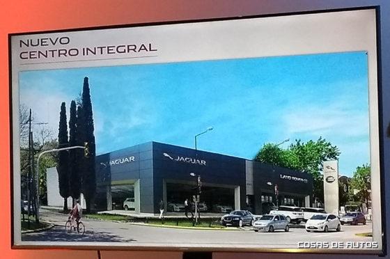 Render el futuro centro integral Jaguar-Land Rover de San Isidro.