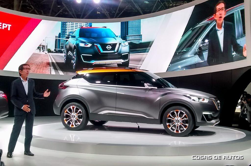 En 2012, Nakamura develó el Nissan Kicks concept en Brasil