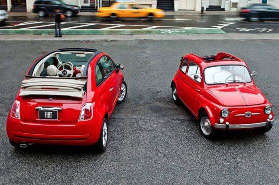 Fiat 500 de 1957 y de 2007