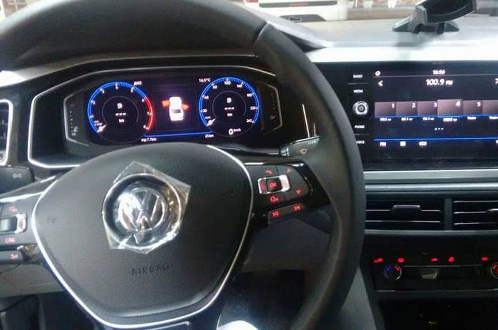 Interior del VW Virtus